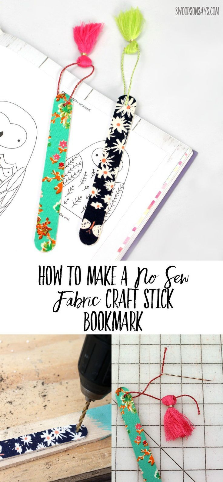 Bookmark Design Ideas long armed bookmarks How To Make A No Sew Fabric Bookmark