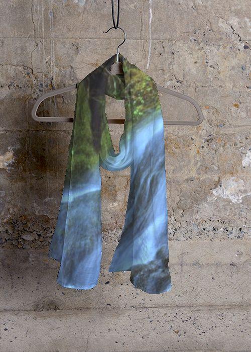 Cashmere Silk Scarf - Chrystal Waters 1C by VIDA VIDA NETBwuT