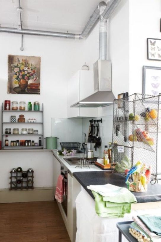 """This kitchen is from our feature """"Stacks of Stuff"""""""