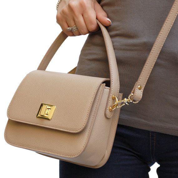 Minibag Borsetta in pelle borsa pelle borsa a mano di GanzaDesign