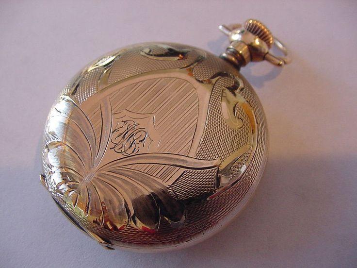 GORGEOUS 1914 FANCY HUNTING CASE ELGIN ANTIQUE POCKET WATCH No RESERVE!    eBay