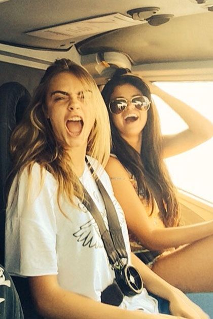 Selena Gomez and Cara Delevingne Weekend Helicopter Ride | Celeb Friends | TeenVogue.com
