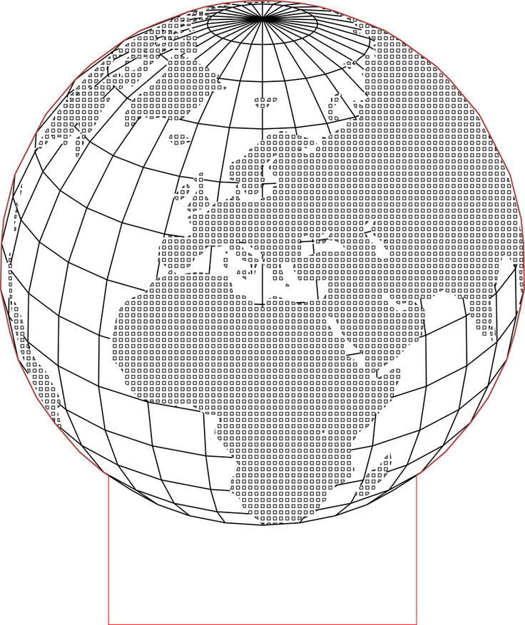 Globe 3D illusion LED lamp vector file