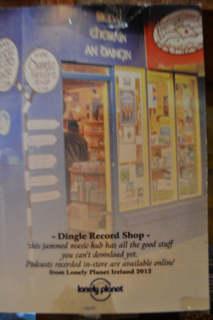 Lonely Planet's description of Dingle Record Shop. www.dinglerecordshop.com