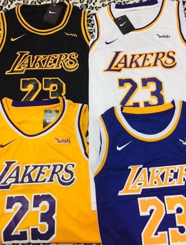 premium selection 4c8a9 040db Pin on LeBron James #23 Lakers Jersey Los Angeles men ...
