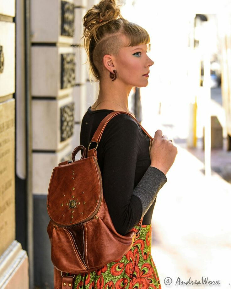 AndreaWorx handmade unique twotone leather boho backpack