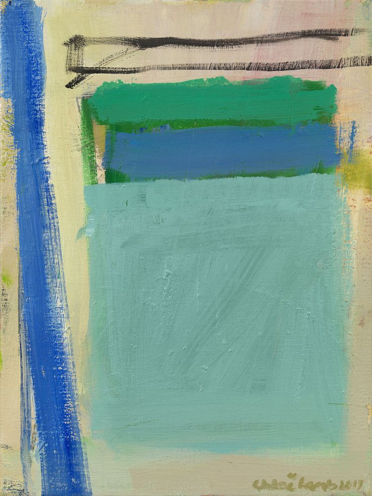 Chloe Lamb Blue & Green I Oil on canvas 20 x 15 inches. Click on link in image for Chloe's forthcoming London exhibition at Cricket Fine Art's Chelsea Art Gallery.