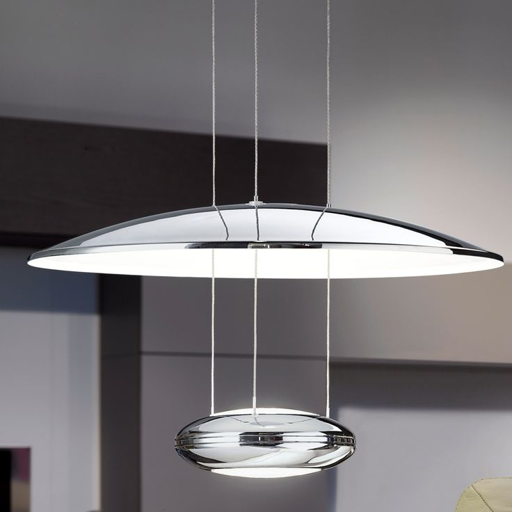 Eglo (93008) Lemos LED Chrome Reflector Pendant Light | Kitchen Pendulum  Fittings | Kitchen