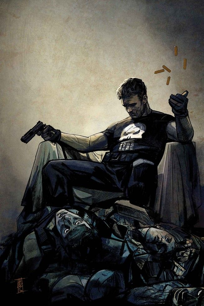 "Because when we watch ""Daredevil,"" you agree with me that The Punisher is the only character that has it right. I married a ruthless woman."