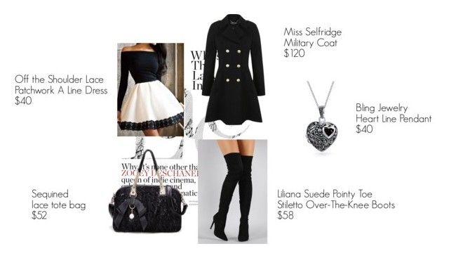 A black and white set by besyata on Polyvore featuring мода, Miss Selfridge, Liliana and Bling Jewelry