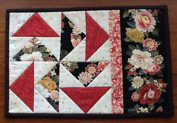 DUTCHMAN'S PUZZLE Snack Mat Mug Rug Pattern by AnniesQuiltCraft