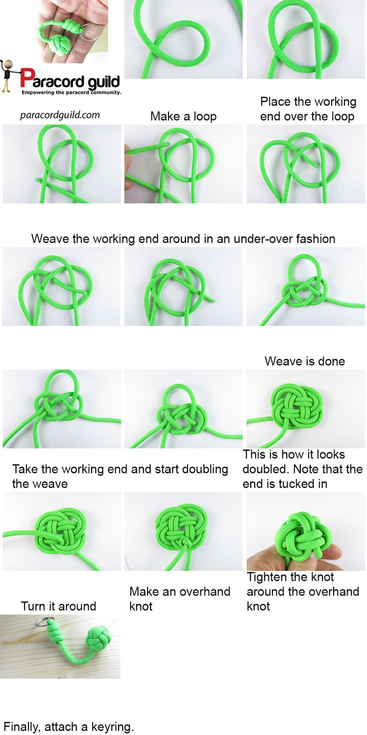 A Tutorial On A Paracord Keychain Knots Pinterest