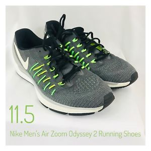 fadd912b0b40 Men s 11.5 Nike Air Zoom Odyssey 2 Running Shoes Gray Green Black Rare Nice