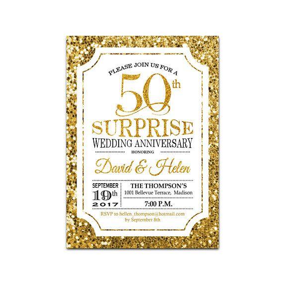 Best 25 Surprise Wedding Ideas On Pinterest: 25+ Best Ideas About Wedding Anniversary Invitations On