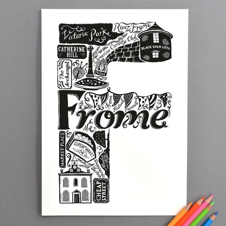 """38 Likes, 7 Comments - Lucy Stephens (@lucylovesthis) on Instagram: """"Happy Sunday! Today, F is for Frome! #GreatBritishAlphabet #type #illustration #frome #letters…"""""""