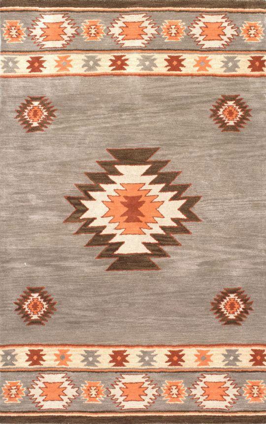 Savanna Southwestern VE04 Green Rug | Contemporary Rugs #RugsUSA