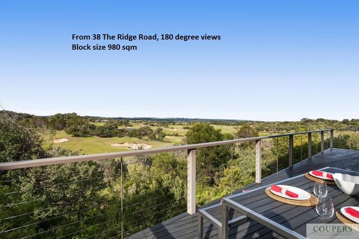 Superb views from 38 The Ridge Road, Moonah Links, Fingal 3939