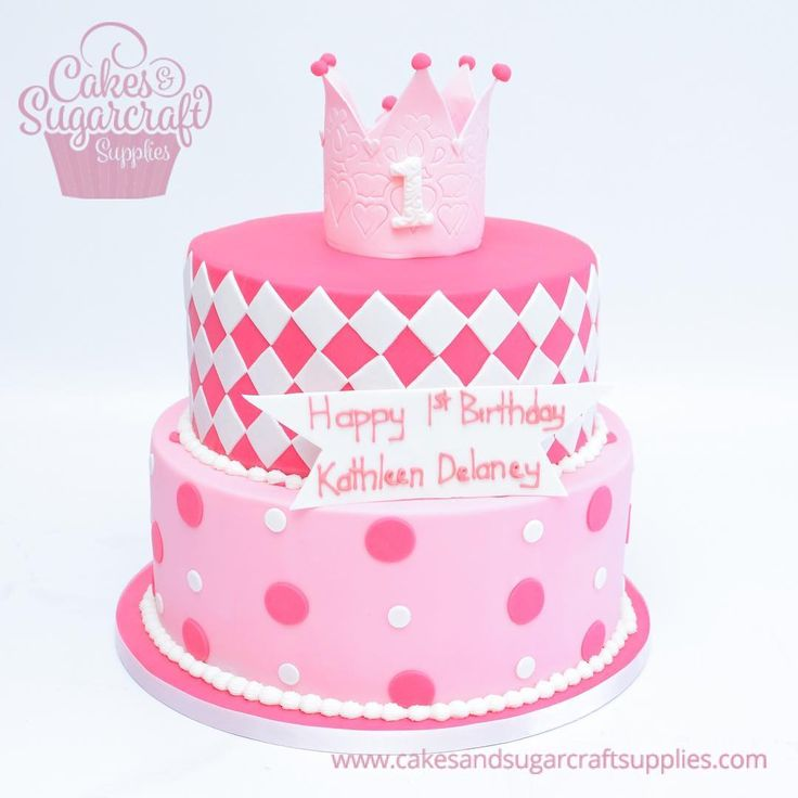 1st birthday cake in pink and white. #birthdaycakesforgirl #lovepink #tiaracake #shadesofpinkcake See more of my work www.cakesandsugarcraftsupplies.com Cakes and sugarcraft supplies @cakesandsugarcraftsupplies