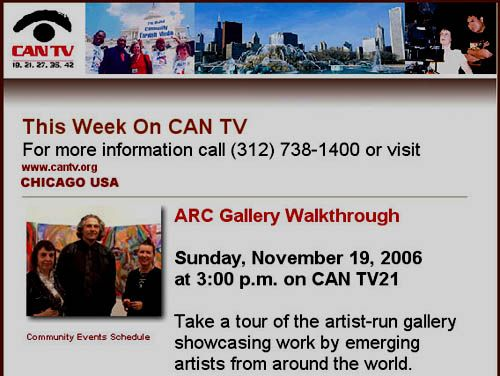 Talking Portraits on Chicago's CAN TV, November 2006.