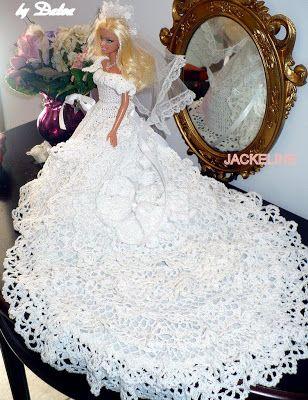Vestiti Da Sposa Uncinetto.Barbie Sposa Vestiti Per Barbie Modelli Per Barbie Matrimonio