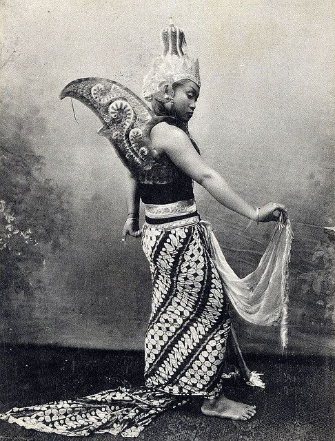 indonesian dancer girl vintage