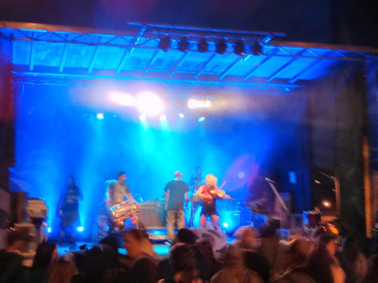 Delhi 2 Dublin from Vancouver, Tuesday night in Sherbrooke, Quebec performing while it was downpouring and people were just dancing and singing in the rain :(