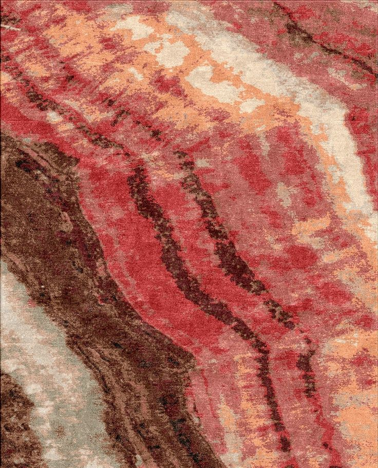 New Abstract Rug Pattern - Hand Woven Pure Wild Silk & Wool . Available in Standard sizes & Custom Size & Colors.  WWW.MASTOURGALLERIES.COM