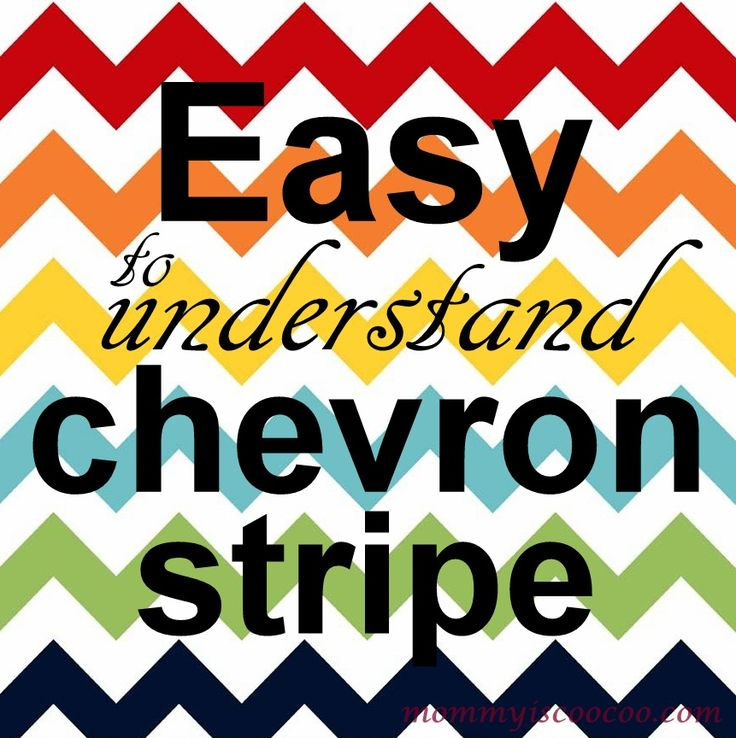mommy is coo coo: How to paint a Chevron Stripe