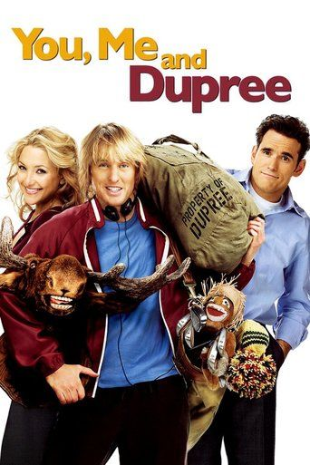 You, Me and Dupree (2006) | http://www.getgrandmovies.top/movies/19306-you,-me-and-dupree | After standing in as best man for his longtime friend Carl Petersen, Randy Dupree loses his job, becomes a barfly and attaches himself to the newlywed couple almost permanently -- as their houseguest. But the longer Dupree camps out on their couch, the closer he gets to Carl's bride, Molly, leaving the frustrated groom wondering when his pal will be moving out.