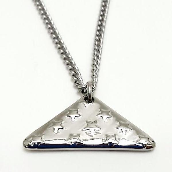 Men's Stainless Steel Folded Flag Necklace-John 15:13