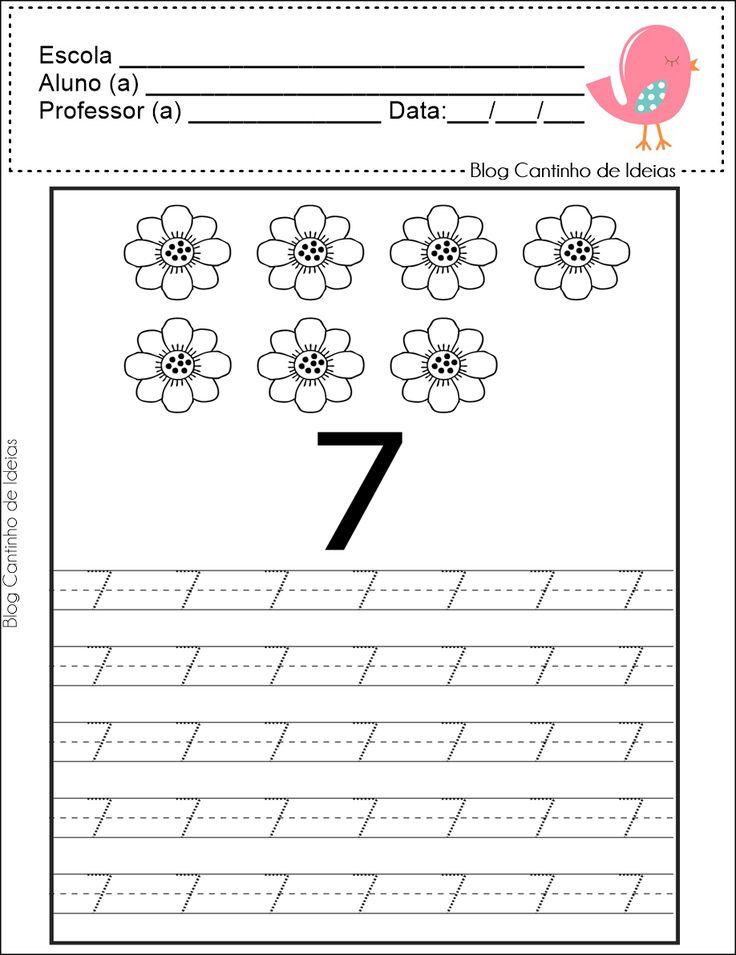 Blog Cantinho de Ideias: Cubra e Pinte - Numerais de 1 a 10
