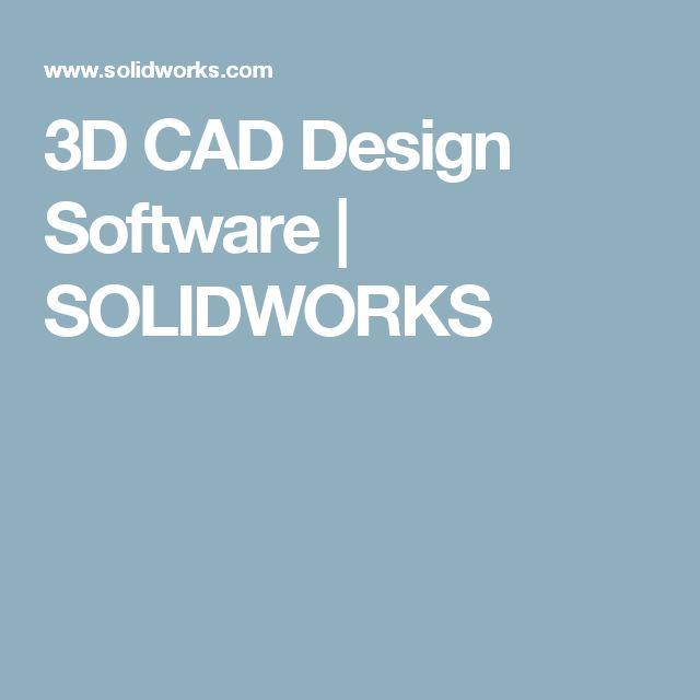 New D CAD Design Software SOLIDWORKS