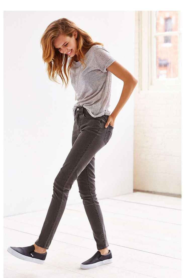 17 Pairs of Dark Skinny Jeans To Replace Your Boring Leggings #refinery29  http://www.refinery29.com/dark-skinny-jeans#slide13  I like the gray jean.