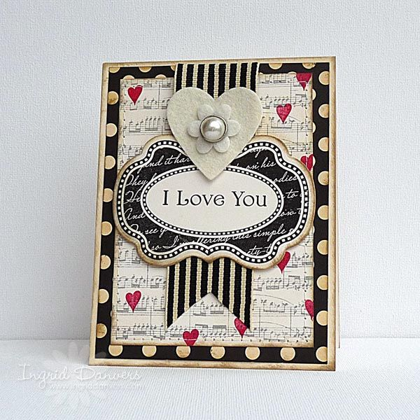 Art And Craft Ideas For Card Making Part - 45: WMS Blog Waltz January - I Love You