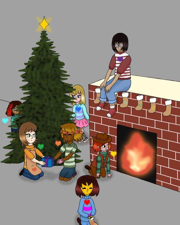 Undertale - Secret Santa (Seven Human Souls) by TheFourthSoul