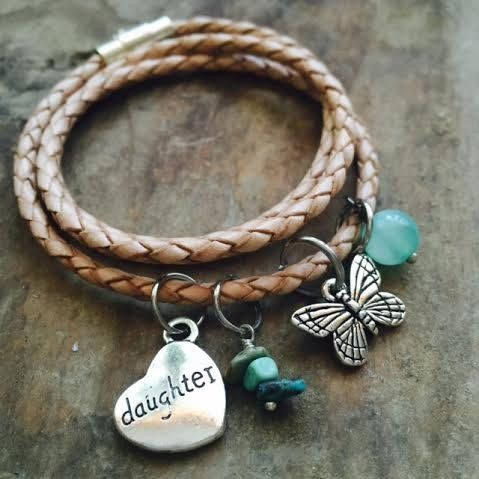Natural Skinny Wrap - Express yourself by making this piece all about you! #handmade #jewlery #leather #wrap #bracelet #charms #simple #boho #paytonjewelry