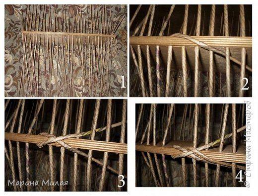 Мастер-класс Поделка изделие Плетение Опять большооое и мобильное Маленький МК Трубочки бумажные фото 2