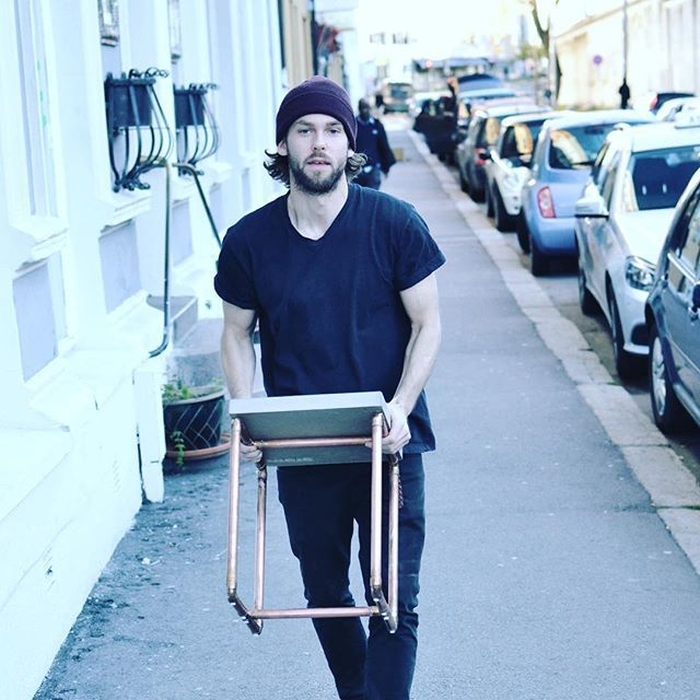 Sunday delivery #jmonier #custom #concretedesign #concretetable #copper #interiordesign #oslo #sthanshaugen #handmade