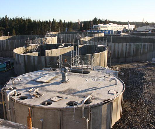 8 st bassänger för reningsverket på Sobacken, Borås Energi & Miljö