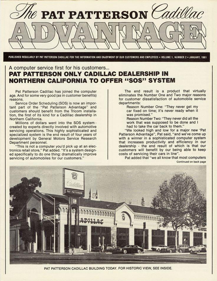 1981 Pat Patterson Cadillac, Oakland California AD