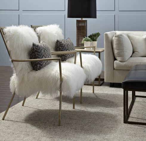 Copycat $1500 Gold/Fur Chair DIY For $215