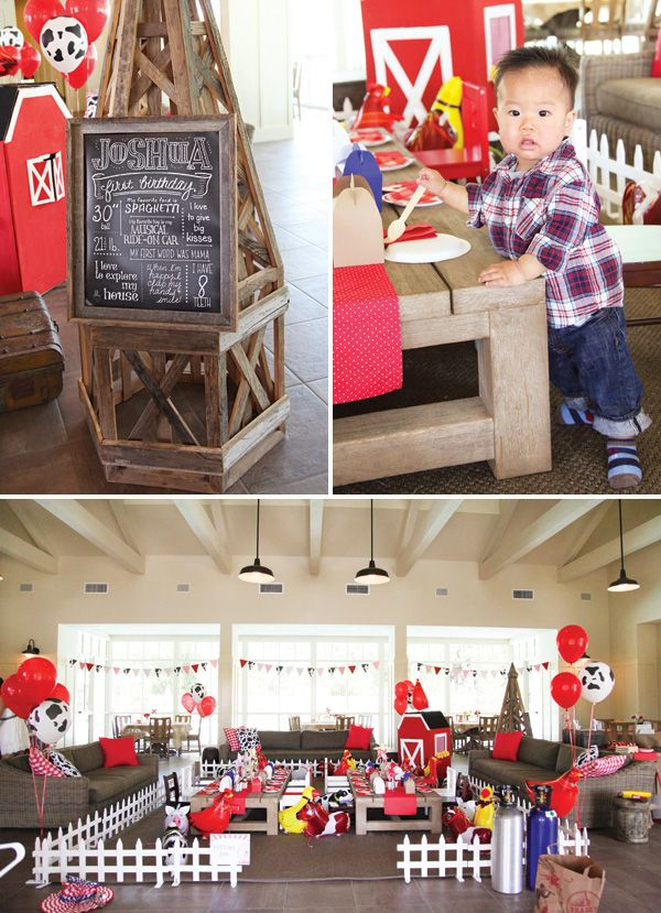 Rustic Barnyard County Fair First Birthday Party: I don't know that I would ever have the time or money to do this party, but just... wow.