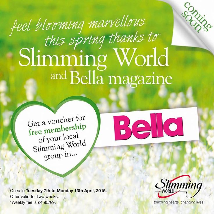 If it's Easter, it must be spring! How does losing 7lbs in two weeks without hunger or cravings sound? Free membership offered in Bella this Tuesday 7th April; come and see me at Louth Meridian every Wed.9.30am or at Trinity, Eastgate every Thursday at 5.30 or 7.30pm.