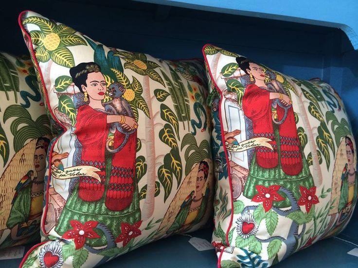 Custom made Frida Kahlo Cushions by Steal the Limelight
