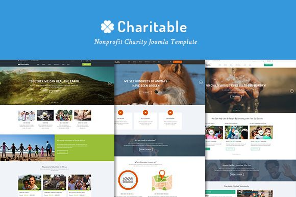 Charitable-Nonprofit Joomla Template by zootemplate on @creativemarket