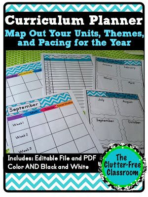 Tips for Curriculum Planning {Mapping, Long Range Plans, Year-Long Planner} - Clutter-Free Classroom
