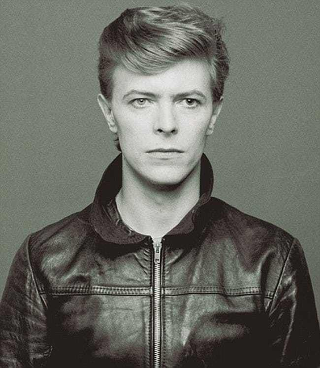 Young David Bowie in Black Lea... is listed (or ranked) 4 on the list 20 Pictures of Young David Bowie