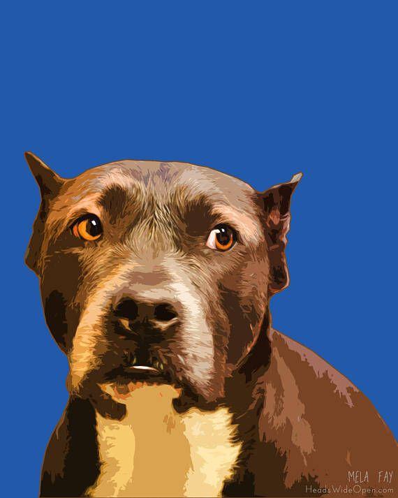 Dog CHARITY Art Print Dog Portrait Print Dog Lover art