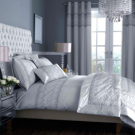 Grey Claudia Collection #bedding #grey