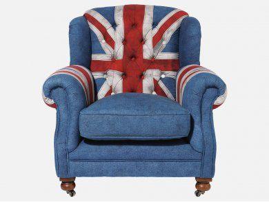 Fotel Grandfather Union Jack